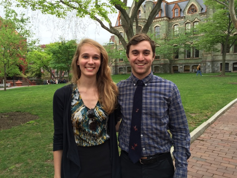 Phillip Cohen and Carla Winter, 2016 Mitchell Scholars