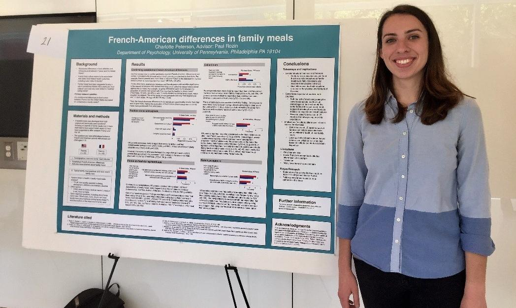 Charlotte with research poster