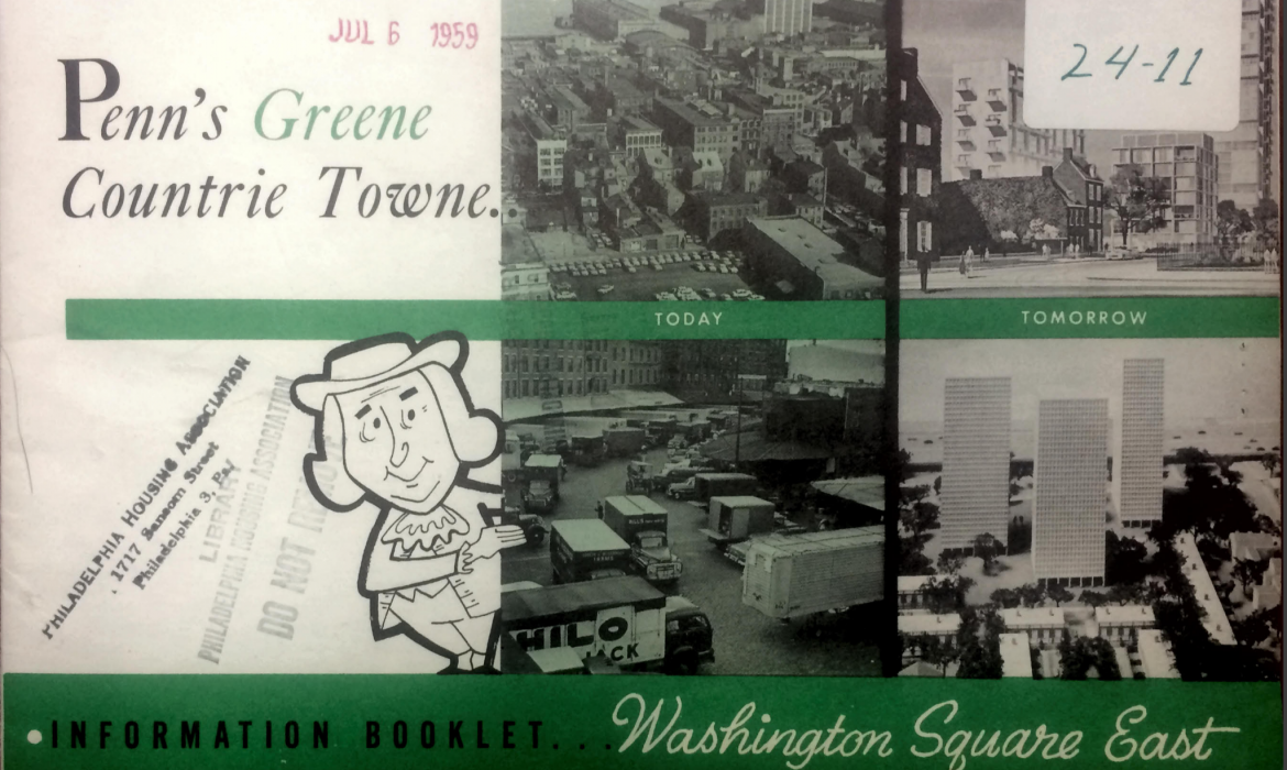 Cover of old tourist guide to philadelphia