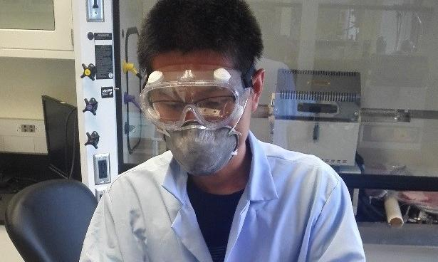 Hanming working with materials
