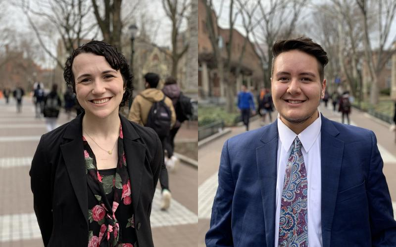 Penn juniors Annah Chollett (left) and Camilo Duran have been named 2020 Truman Scholars