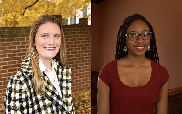 Penn's new Marshall Scholars are 2018 graduate Erin Hartman (left) and senior Christina Steele.