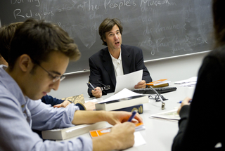 Benjamin Franklin Seminars are the centerpiece of the Benjamin Franklin Scholars program.  We have small classes (fewer than 20 students) that involve intensive discussion and investigation.  Students and faculty jointly pursue deeper discoveries through discussion and investigation.  Classes are designed to promote independent thinking and encourage curiosity about a breadth of topics.