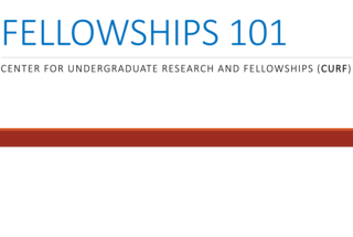 Have a look at the following presentation to understand the Who, What, When, Where, Why, and How of Fellowships
